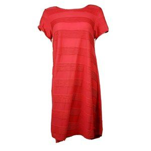 NWT LULAROE Solid Coral Carly Dress Small